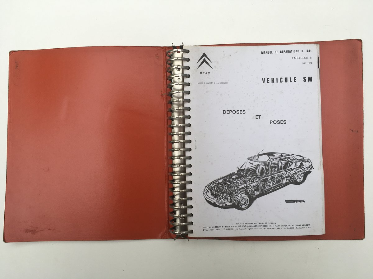 Citroen SM repair manuals For Sale by Auction (picture 3 of 5)