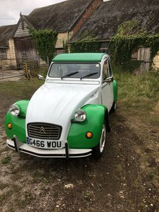 2 CV6 green and white dolly