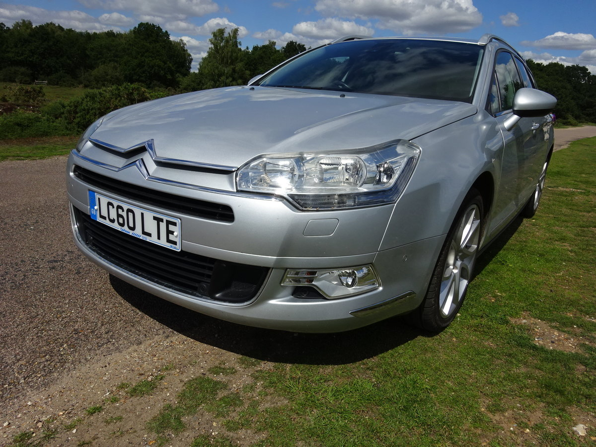 2010 CITROEN C5 2.0HDi ( 160bhp ) EXCLUSIVE, HALF LEATHER, 6 SPD For Sale (picture 1 of 6)
