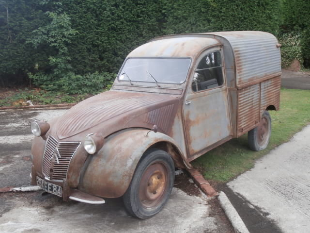 1959 Citroen 2cv AZU ripple van with patination! SOLD (picture 1 of 6)