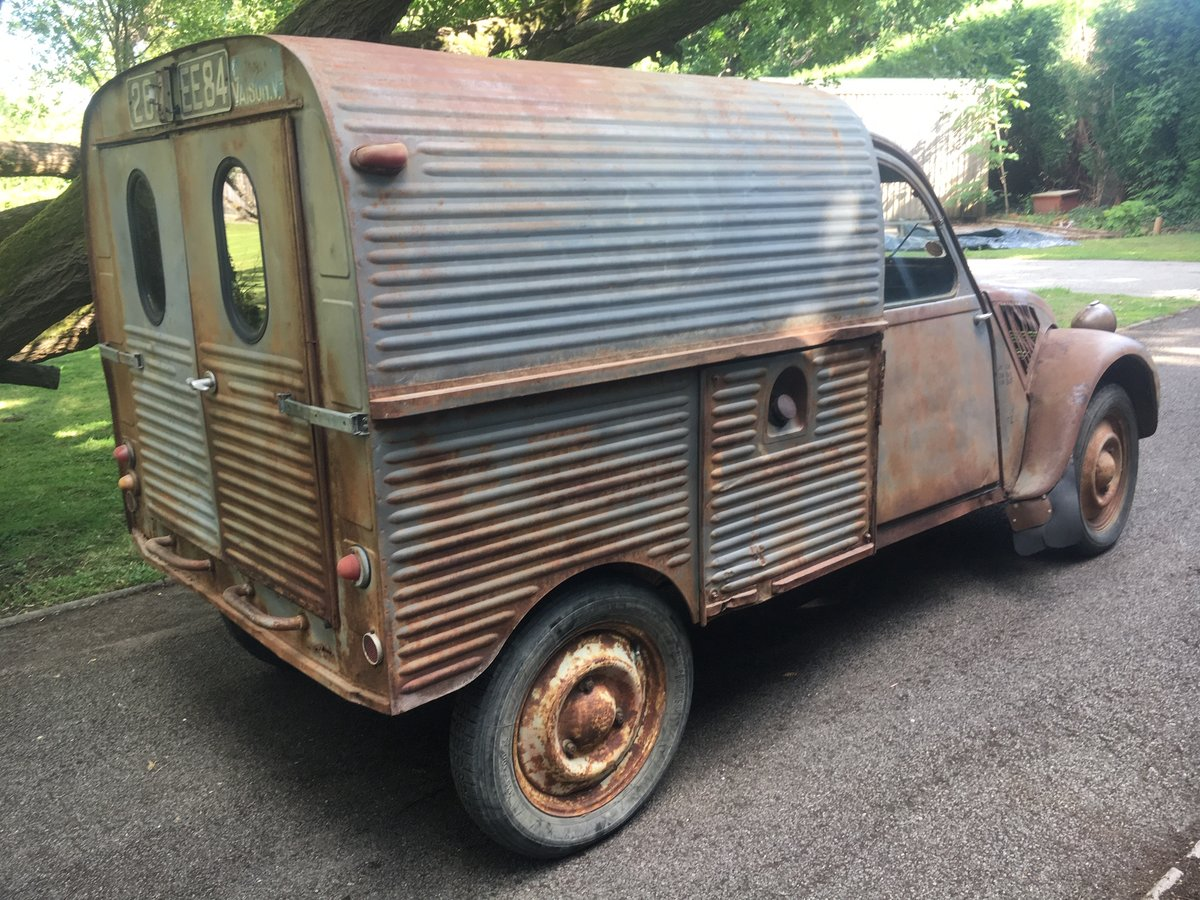 1959 Citroen 2cv AZU ripple van with patination! SOLD (picture 3 of 6)