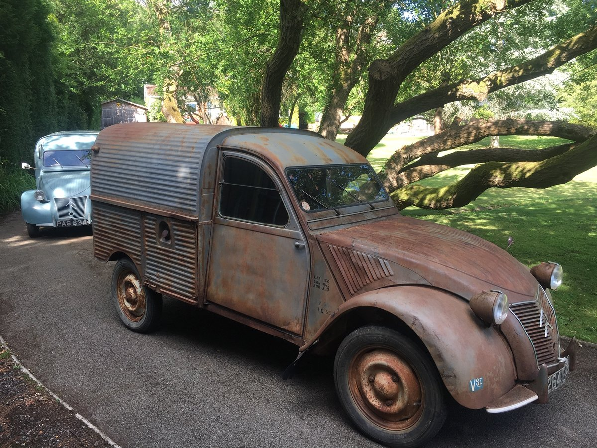 1959 Citroen 2cv AZU ripple van with patination! SOLD (picture 4 of 6)