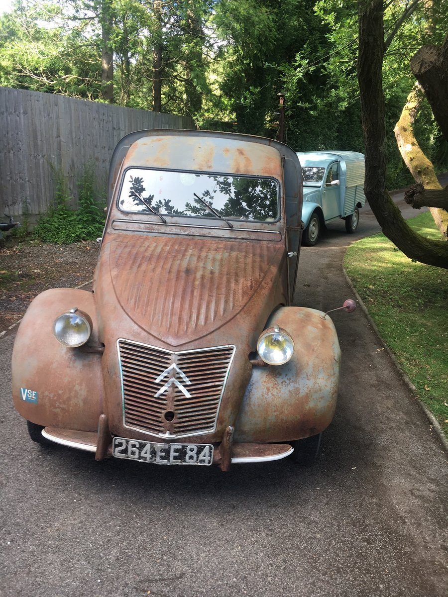 1959 Citroen 2cv AZU ripple van with patination! SOLD (picture 5 of 6)