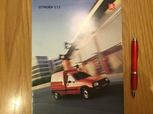 Picture of 2003 Citroen C15 van brochure