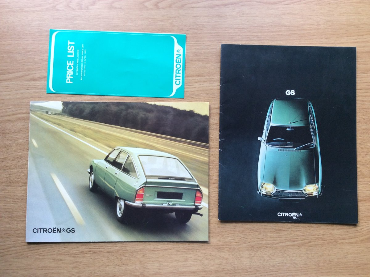 1973 Rare Citroen GS brochures For Sale (picture 1 of 3)