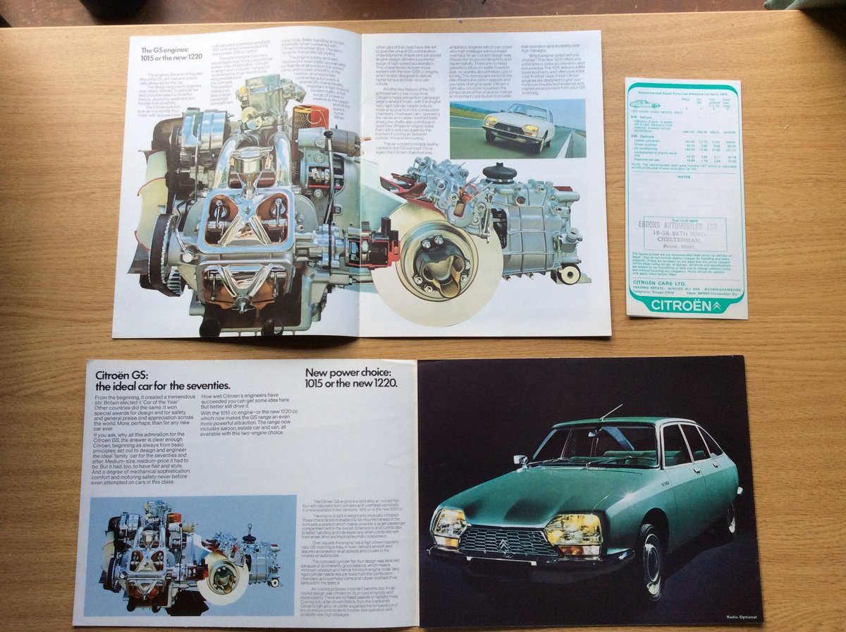 1973 Rare Citroen GS brochures For Sale (picture 2 of 3)