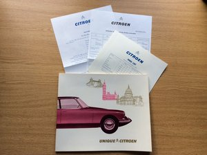 UNIQUE CITROEN SALES BROCHURE