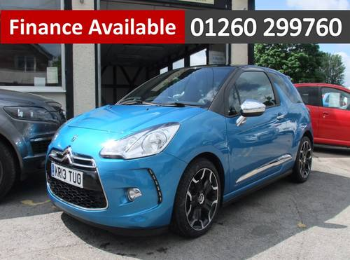 2013 CITROEN DS3 1.6 E-HDI AIRDREAM DSPORT PLUS 3DR Manual SOLD (picture 1 of 6)