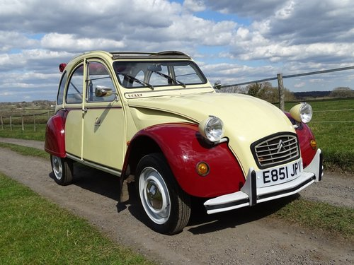 Absolutely delightful 1988 Citroen 2CV6 Plums and Custard SOLD (picture 1 of 6)