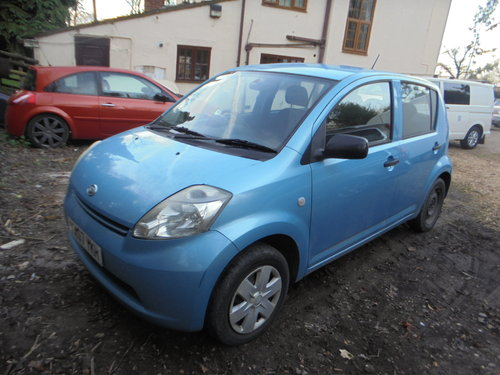 2007 07 DAIHATSU 1LTR 5 SPEED  SPORT MODEL 5 DOOR HACH R/TAX 30 For Sale (picture 4 of 6)