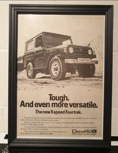 1984 Daihatsu Fourtrak Advert Original