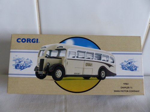 DAIMLER 1/2 SINGLE DECK BUS-SWAN MOTORS 1:50 For Sale (picture 1 of 6)