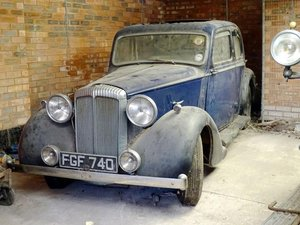 1938 Daimler 15hp Saloon For Sale by Auction