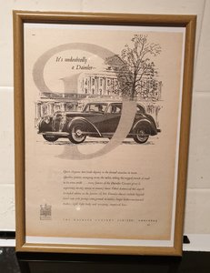 Picture of 1951 Daimler Consort Framed Advert Original