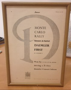Daimler Consort Framed Advert Original