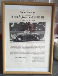 1959 Original Daimler Dart Framed Advert