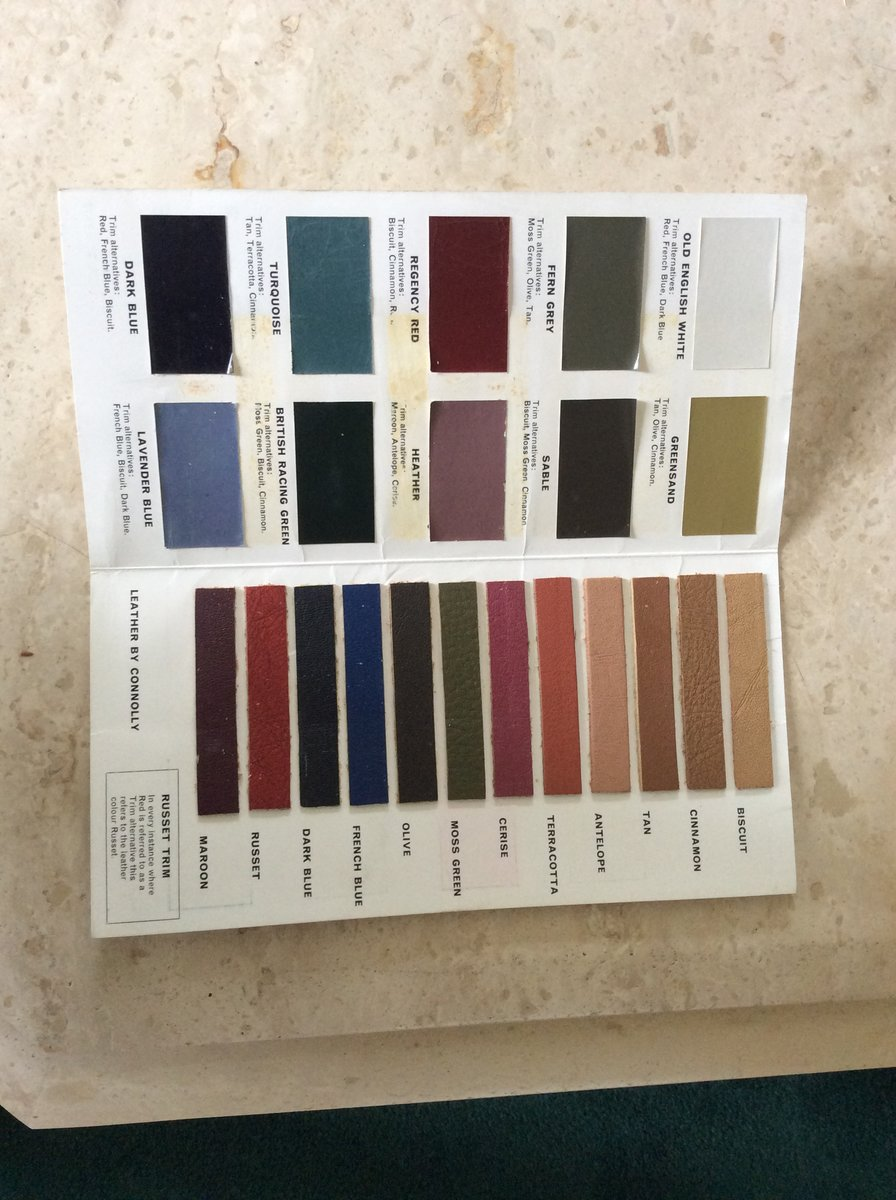 1972 Very rare daimler car colour guide For Sale (picture 1 of 5)