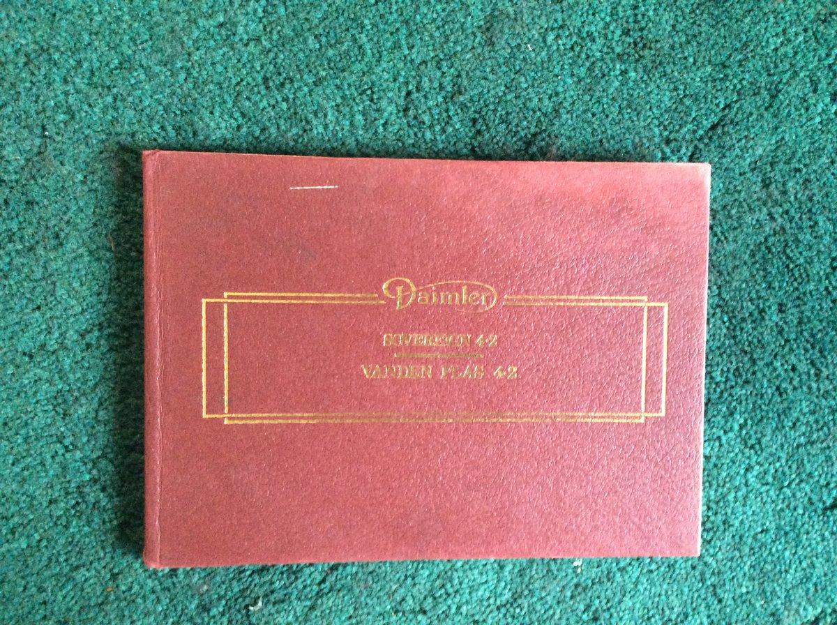 Handbook for Daimler Sovereign/Vanden Plas For Sale (picture 1 of 2)