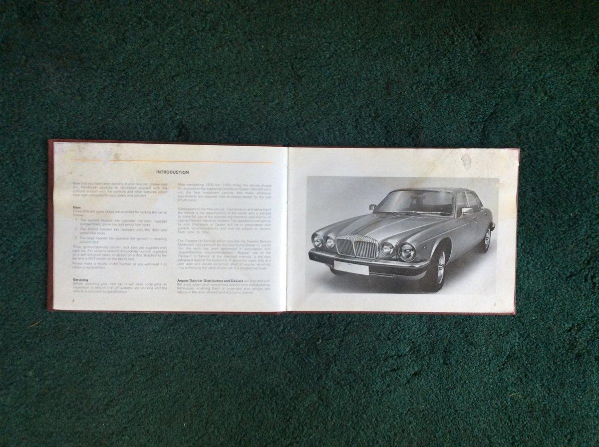 Handbook for Daimler Sovereign/Vanden Plas For Sale (picture 2 of 2)