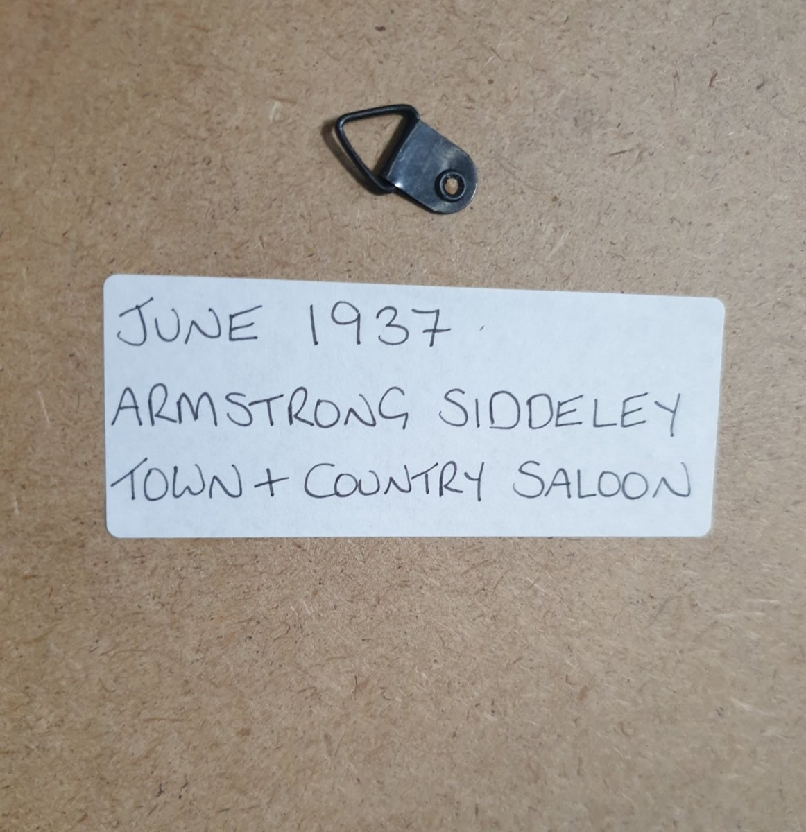 1951 Original 1937 Armstrong-Siddeley Framed Advert For Sale (picture 2 of 3)