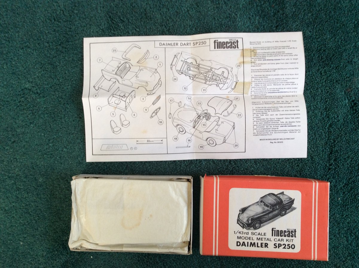 SP 250 FINECAST Model Métal Car Kit For Sale (picture 2 of 5)