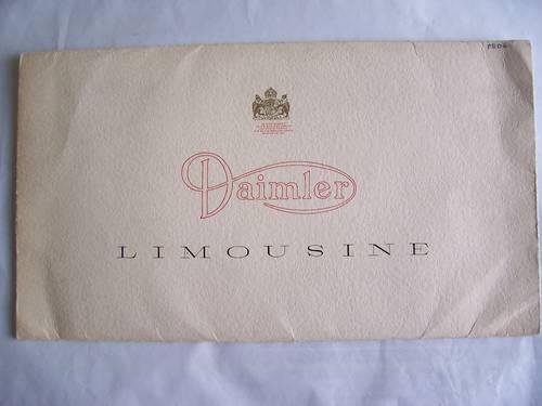 DAIMLER LIMOUSINE  PORTFOLIO 1963 For Sale (picture 1 of 6)