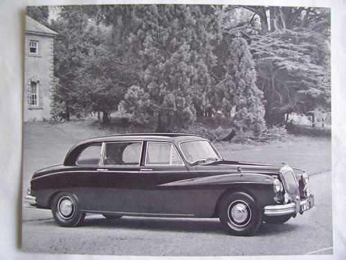 DAIMLER LIMOUSINE  PORTFOLIO 1963 For Sale (picture 4 of 6)