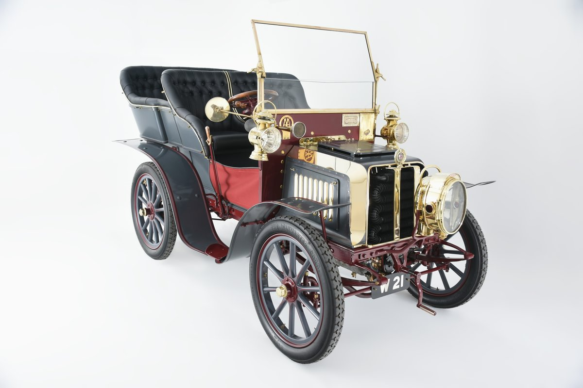 1903 Darracq 12hp Twin-cylinder Swing–seat Tonneau For Sale (picture 1 of 10)