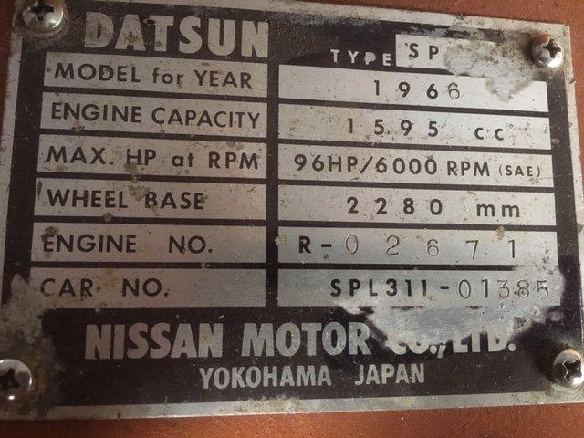 1966 Datsun Fairlady 1600 '66 (restored!) For Sale (picture 4 of 6)