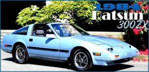 1984 Datsun (Nissan) 300ZX = Manual Clean Blue(~)Grey $8.9k  For Sale