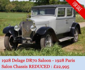 Picture of 1928 Delage DR70 Saloon Paris Salon Car For Sale
