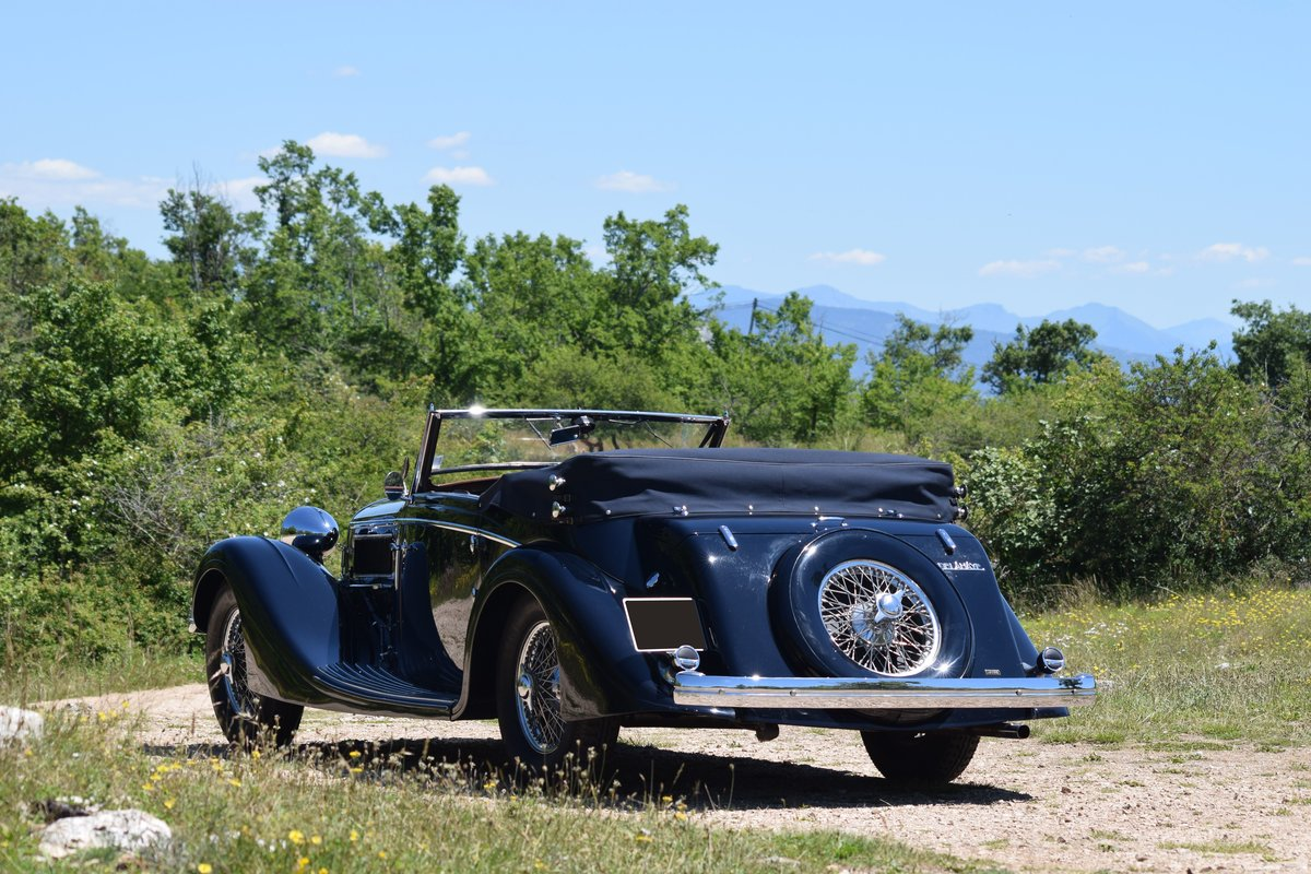 1936 Delahaye 135 Coupe des Alpes Cabriolet Mylord Henri Chapron For Sale (picture 2 of 6)