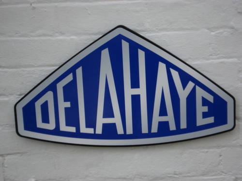 Delahaye garage sign 2ft (66cm) For Sale (picture 1 of 1)