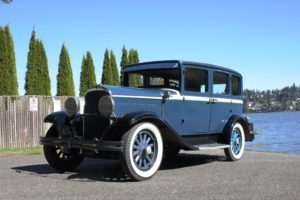 1929 Desoto 4 Door sedan = clean Blue(~)Grey driver $14.9k