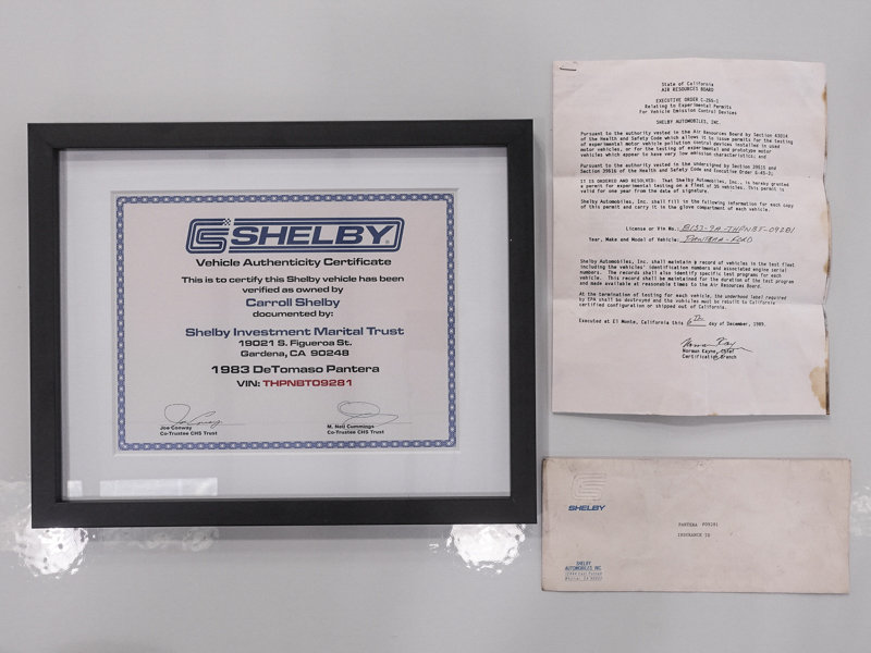 Carroll Shelby's 1983 DeTomaso Pantera GTS For Sale (picture 6 of 6)