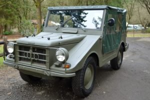1963 DKW/Audi/Auto Union Munga Jeep = clean fun driver $45k