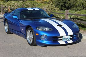 1996 Dodge Viper GTS Venom 600 = Fast V-10 Manual Blue $65k For Sale