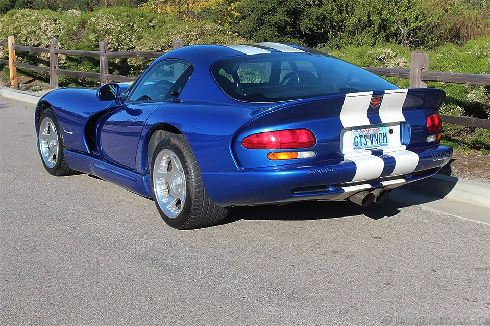 1996 Dodge Viper GTS Venom 600 = Fast V-10 Manual Blue $65k For Sale (picture 2 of 6)