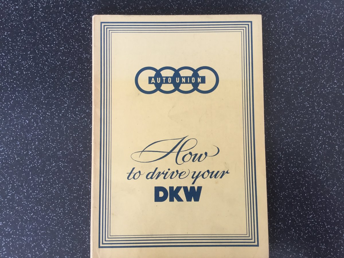 Auto Union, how to drive your DKW. For Sale (picture 1 of 6)