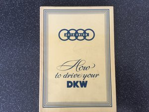 Auto Union, how to drive your DKW.