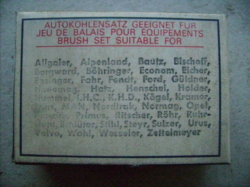 1930 Brush sets for Starter and Dynamo For Sale (picture 2 of 4)