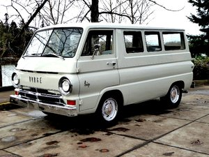 1964 Dodge A100 Window Van = 318 auto Clean Silver $12.5k For Sale