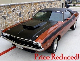 1970  Dodge Challenger T/A = 340 V8-6 Pack 4 speed $84.9k