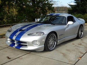1999 Dodge Viper GTS Coupe V-10 Fast 6 Speed Manual $49.5k