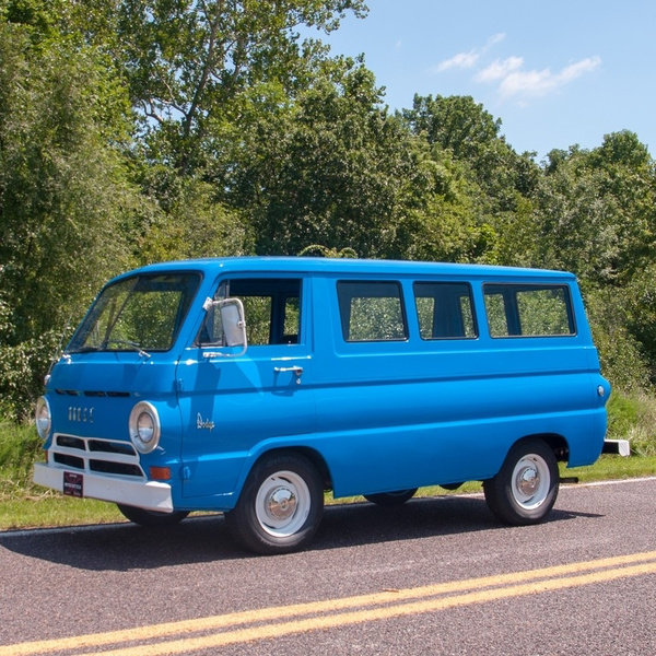 1965 Dodge A100 Van Cargo = 6-Cyls Manual Clean Blue $22.9k For Sale (picture 1 of 6)