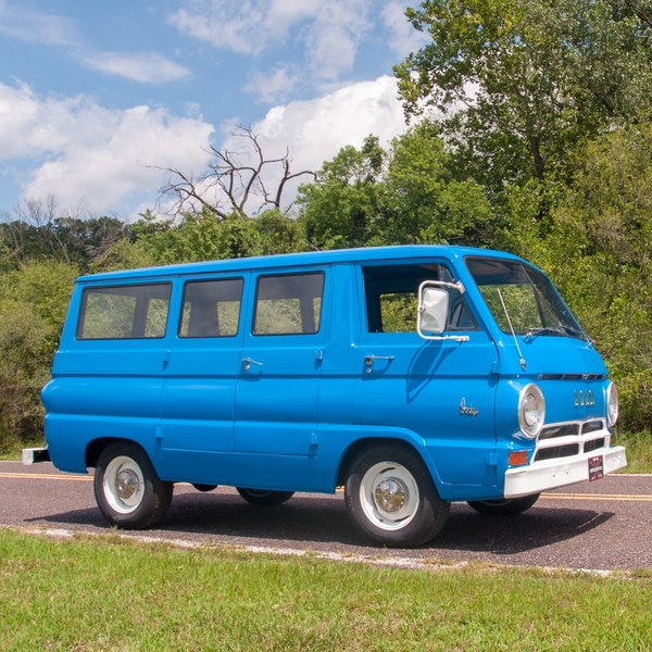 1965 Dodge A100 Van Cargo = 6-Cyls Manual Clean Blue $22.9k For Sale (picture 4 of 6)