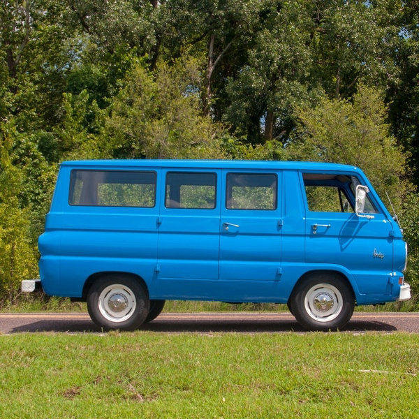 1965 Dodge A100 Van Cargo = 6-Cyls Manual Clean Blue $22.9k For Sale (picture 5 of 6)