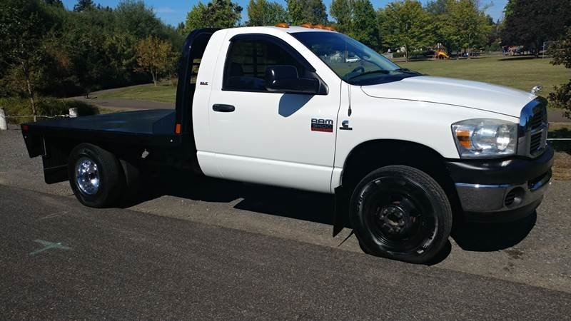 2008 Dodge Ram Chassis 3500 SLT Diesel FlatBed 9 Foot $17.9k For Sale (picture 1 of 6)