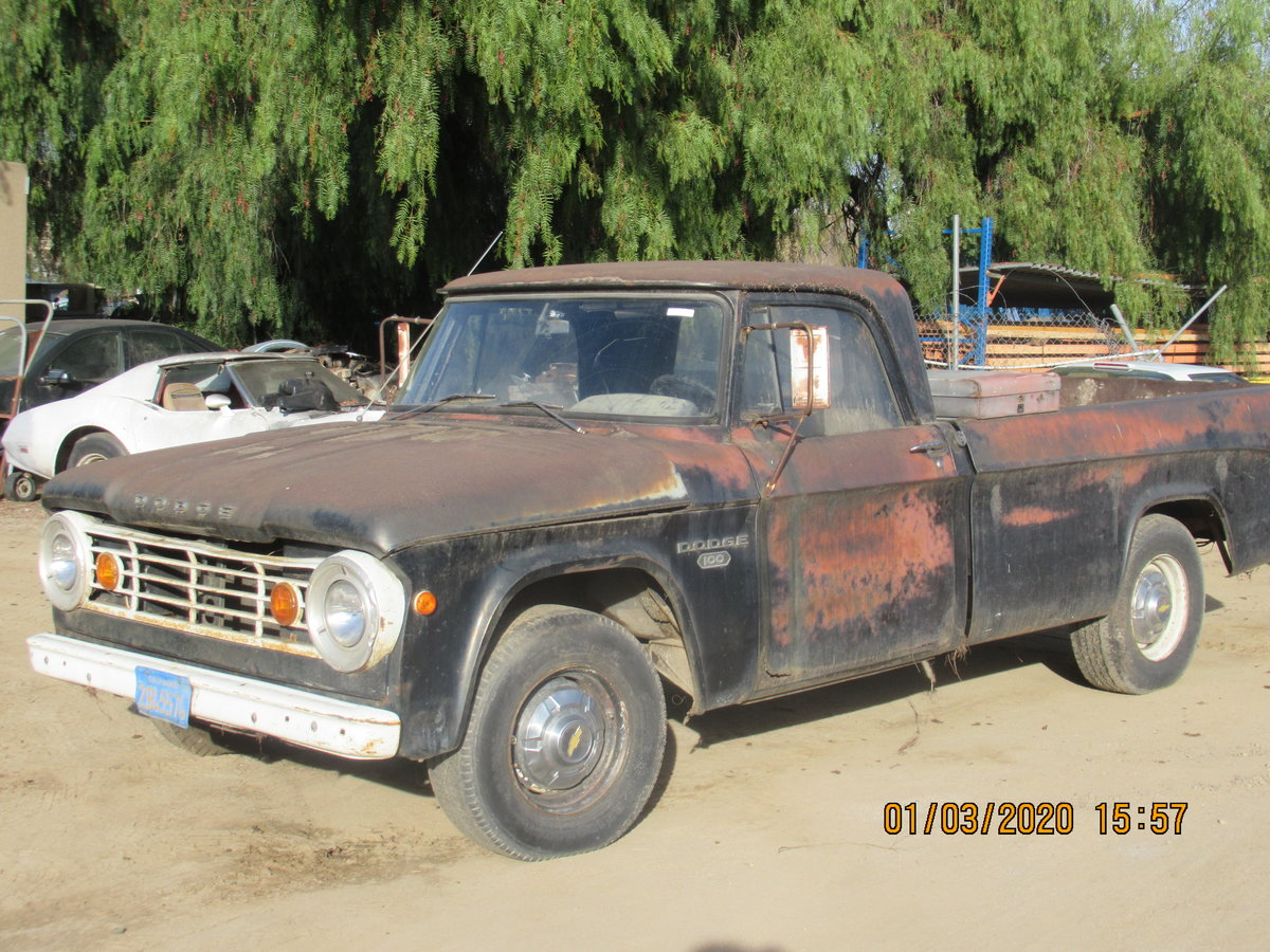 1969 DODGE D100. 1965. V8. manual.   For Sale (picture 2 of 4)