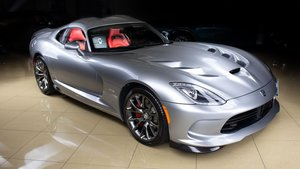 2014  Dodge Viper 2S Coupe Manual Silver(~)Red  $99.9k